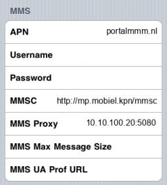 KPN  APN settings for iPhone
