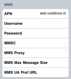 Vodafone Internet APN settings for iPhone