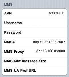 Tchibo  APN settings for iPhone