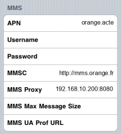 Sosh MMS APN settings for iPhone