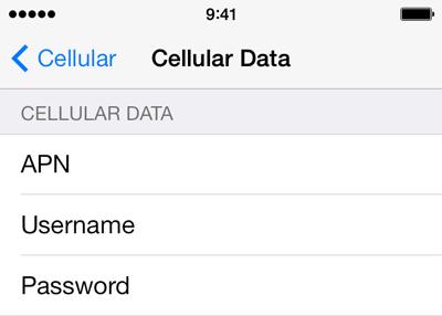 Uninor  APN settings for iOS8 screenshot