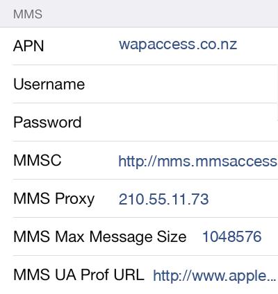 Skinny Mobile  APN settings for iOS9 screenshot