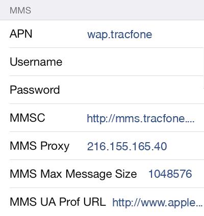 Telcel America  APN settings for iOS9 screenshot