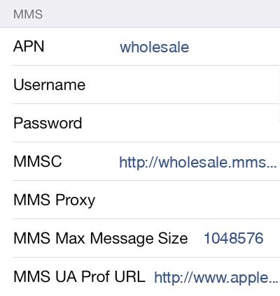Ultra Mobile  APN settings for iOS9 screenshot