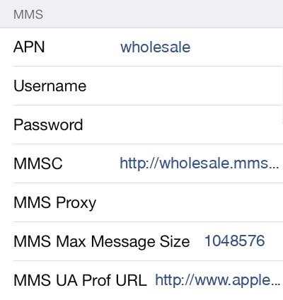 UVA Mobile  APN settings for iOS9 screenshot