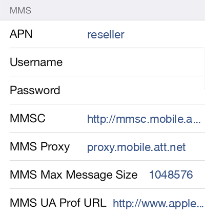 Defence Mobile  APN settings for iOS9 screenshot